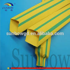 yellow green striped wire indentify heat shrink sleeve wire