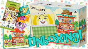 animal crossing happy home designer new 3ds bundle unboxing