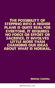 quote about inspirational the possibility of stepping into a