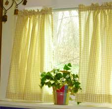Yellow Kitchen Curtains Valances Gingham Check Kitchen Tier Cafe Curtains And Valances In 22 Colors