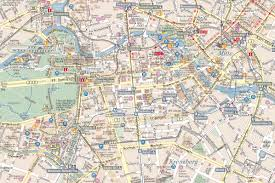 Berlin Map Berlin Tourist Map Black