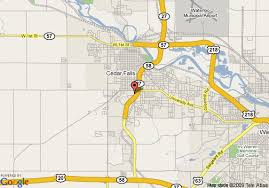 map of cedar falls iowa map of country inn and suites by carlson cedar falls cedar falls