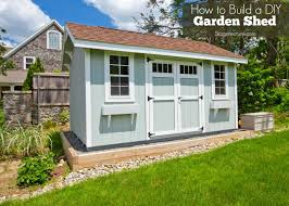 easy diy tips to build your own garden shed