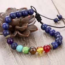natural stone beaded bracelet images Chakra natural stone beads bracelet adjustable healing bracelet jpg