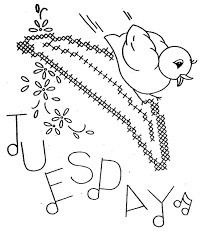 hand embroidery pattern 3067 birds fruit for days of the week