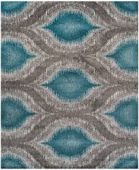 Teal Kitchen Rugs Neo Grey Cove Teal 9 6 X 13 2 Area Rug Cove F C Teal And