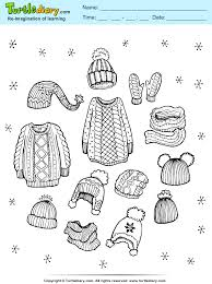 clothes coloring pages woolen clothes coloring sheet turtle diary