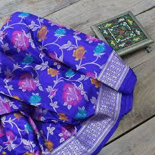Beautiful Purple Motifs Sarees Tilfi