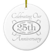 married 25 years anniversary ornaments keepsake ornaments zazzle
