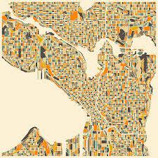 Seattle Map Pdf by Seattle Map Digital Art By Jazzberry Blue