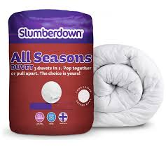 buy slumberdown all seasons 9 4 5 tog 3 in 1 duvet single at