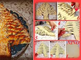 braided nutella christmas tree bread diy recipe alldaychic