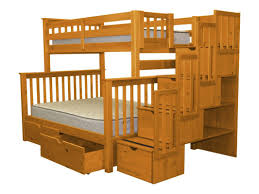 bedz king stairway twin over full bunk bed with extra storage