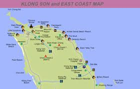 coast map map of east coast of koh chang