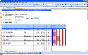 Monthly Gantt Chart Excel Template Gantt Chart Excel Templates