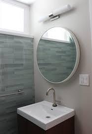 bathroom mid century small bathroom vanity light mirror modern