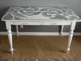 painting a desk white furnitures artistic white painted desk idea simple and creative