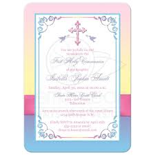 holy communion invitations pretty pastels holy communion invitation flowers printed