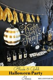 black and gold halloween party ideas michelle u0027s party plan it