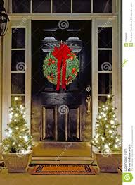 christmas decorated front door royalty free stock images image