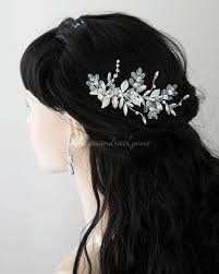bridal hair clip bridal hair clip with elongated marquise stones