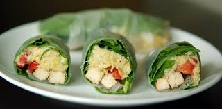 rice paper wrap artichoke and spinach rice paper rolls with lemon rosemary baked