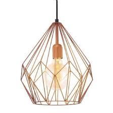 vintage copper ceiling light 49258 vintage copper cage ceiling pendant carlton