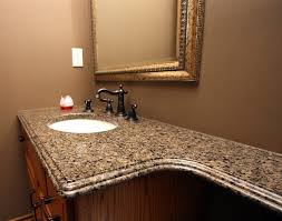 Granite Bathroom Countertops With Sink Toronto Tropical Brown Granite Bathroom Traditional With Double