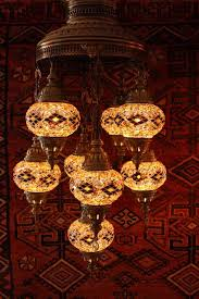 Turkish Chandelier Kilim Nine L Mosaic Chandelier