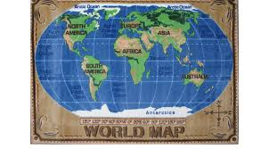 Antarctica World Map by World Map Rug