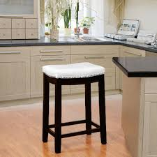 linon home decor claridge 24 in white cushioned bar stool