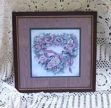 home interior collectibles framed home interior homco print burgundy wine wood frame matted