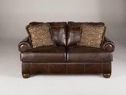furniture flexsteel sofas leather loveseat recliner red