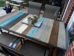 replace glass patio table top with wood tile patio table top replacement tile designs