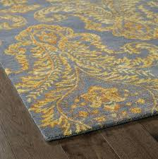 Brown And Grey Area Rugs Marvelous Gray Yellow Area Rug Classof Co
