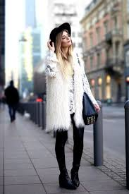 jacket white vest white fur vest fur vest mini dress