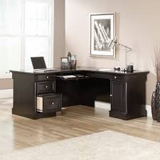Cheap Black Corner Desk Palladia L Shaped Desk 417714 Sauder