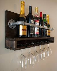 awesome hcsf004 solid wood wine rack with glass holder loose