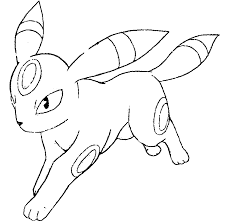 pokemon umbreon coloring pages getcoloringpages