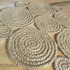 Braided Doormat 8ft Crochet Natural Jute Rug Braided From Greathome On Etsy