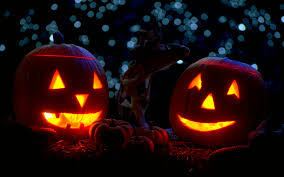with candles in night halloween widescreen wallpapers