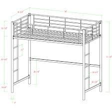 amazon prime black friday 79 amazon com walker edison twin metal loft bed black kitchen u0026 dining