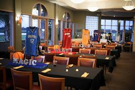 basketball centerpieces basketball theme bar mitzvah party mazelmoments