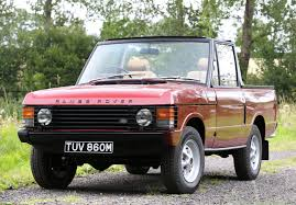old land rover truck rare 1973 range rover convertible goes to auction