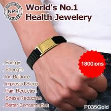 power health bracelet images B035g antifatigue balance scalar energy wristband men gold jpg