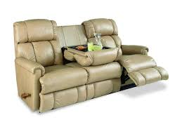 Lazy Boy Sofa Bed Light Brown Lazy Boy Leather Sleeper Sofa With Reclainer And Tray