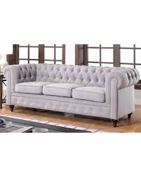 spectacular deal on madison classic stone scroll arm tufted linen