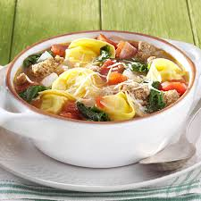 rustic italian tortellini soup recipe taste of home