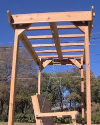 Swing Pergola by Personalized Pergola Arbor Swing