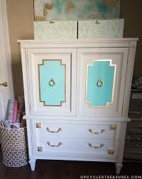 Armoire Changing Table Upcycled Mid Century Armoire Mountainmodernlife Com